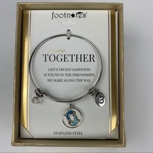 Footnotes stainless steel expandable bracelet